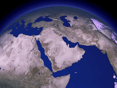 Satellite Photographs Of Israel And The Middle East - Middle east satellite map