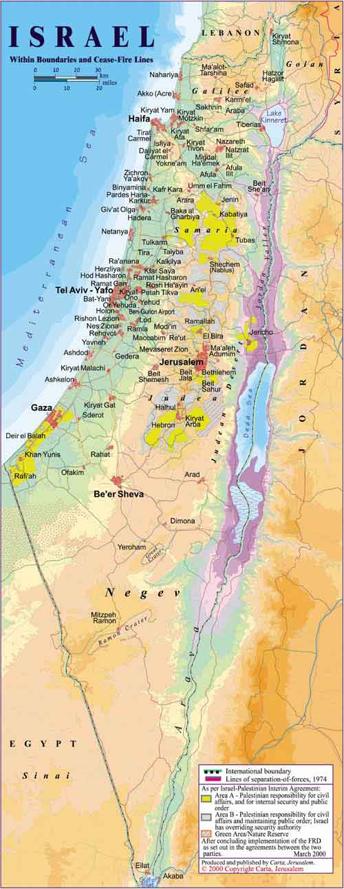 Map Of Israel By Carta - Maps of israel